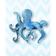 CiCi Art Factory Nautical Octopus Paper Print $24.95 by AllModern