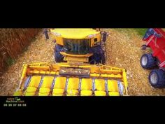 Promotion machine agricole en vue aérienne de drone