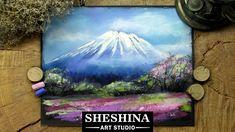 How to draw Mount Fuji with soft pastels 🎨 Sheshina Ekaterina