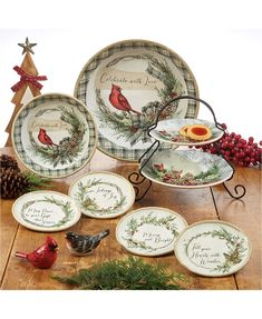 Top 10 Christmas Gifts, Thoughtful Christmas Gifts, Christmas Colors, Christmas Plates, Christmas Dinnerware Sets, Tiered Server, Dinner Bowls, Appetizer Plates, Plate Sets