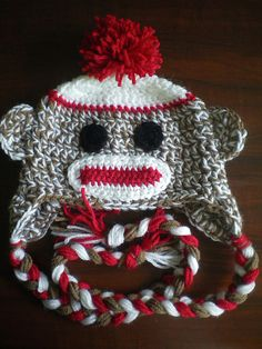 Ravelry: Project Gallery for Sock monkey hat pattern by Christine Doyle