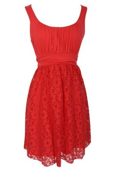 Cause For Celebration Lace Dress in Coral    www.lilyboutique.com