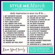 March Instagram Challenge