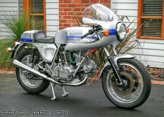 """1976 Ducati 750 Super Sport. Beauty. """"Hi Steve, this is my 750 l have been working on for the past two years, and thank you for your help! Cheers. Colin W. - Australia"""" Thanks Colin, you have done a great job..... Enjoy your weekend!"""