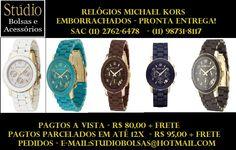 Relógios Michael Kors Emborrachados a pronta entrega - PROMOÇÃO!