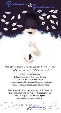 Macht mit! Hier geht's zum GeflüsterBLOG www.parfumgefluester.de/cms  #gewinnspiel #repinnenundgewinnen #repinnengewinnen #repinwin #aktion #parfumgefluester #pggefluesterblog