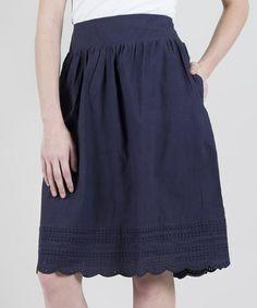 Another great find on #zulily! Navy Fast & Slow A-Line Skirt #zulilyfinds $24.99, regular 40.00