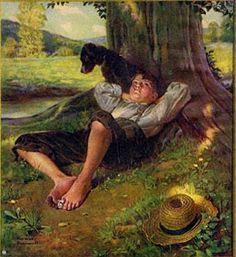 """Blessings on thee, little man,  Barefoot boy, with cheek of tan!""        --John Greenleaf Whittier (1855)"