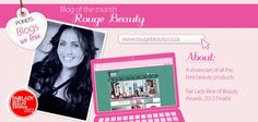Rouge Beauty is our blogger of the month! Have you visited her website? Fair Lady, Special Guest, Website, February, Blog, Beauty, Check, Red, Cosmetology