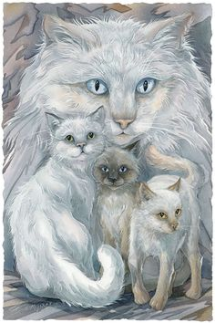Bergsma Gallery Press :: Paintings :: Domestic Animals :: Cats :: Soul Friends - Prints