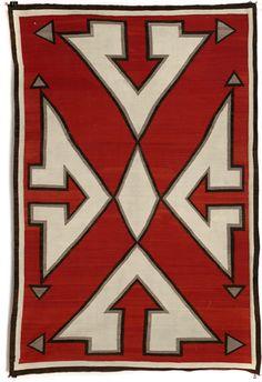 — Navajo (Arizona), Rug, wool, c. Native American Blanket, Native American Rugs, American Indian Art, Navajo Weaving, Navajo Rugs, Navajo Art, Indian Blankets, Indian Artifacts, Southwest Art