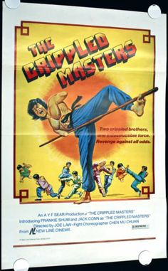 Game Room: THE CRIPPLED MASTERS 1979 Original Movie Poster 1sh 27x41 ROLLED B-Movie Kung-Fu  #MoviePoster   #KungFu   #MartialArts