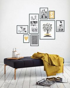 Wandcollage mit Fotos – Family-prints online selber machen bei Printcandy Source by familiethimm Inspiration Wand, Gallery Wall Layout, Family Print, Family Poster, Home And Deco, My New Room, Frames On Wall, Wall Design, Home And Living