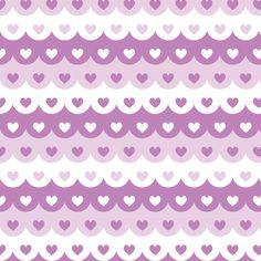 Hearts scallops (purple) fabric by petitspixels on Spoonflower - custom fabric