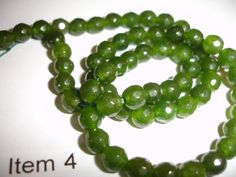 Pretty 6mm Green Jade 15 beads by SupplyWizard on Etsy, $2.00