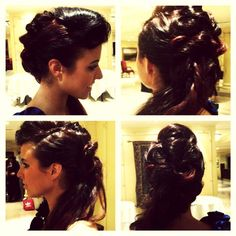 Hair up, for Pia Michi fashion show using Racoon Hair extensions!