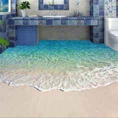 Blue Water Wallpaper, Floor Wallpaper, Photo Wallpaper, Wallpaper Murals, Bathroom Wallpaper 3d, Painting Wallpaper, Adhesive Wallpaper, Vinyl Wallpaper, Modern Floor Paint