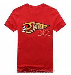 Men's Hells Angels Motorcycle Club T-Shirts black Short Sleeve