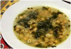 Soupe aux Poids Chiche et aux épinards à Alentejana