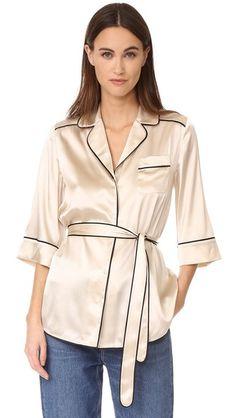 Whistles Slyvia Pajama Silk Shirt