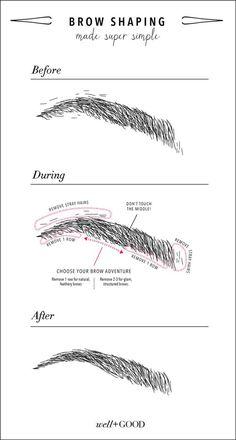5 tips to finally getting the full, pretty eyebrows you want. Via | wellandgood.com