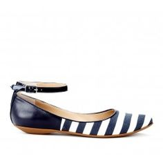 I don't care for the ankle strap but love navy and white stripes