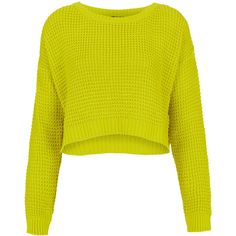 TOPSHOP Knitted Textured Stitch Crop ($45) ❤ liked on Polyvore