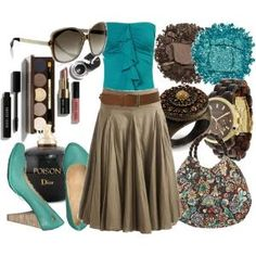 Love turquoise and brown together. by Melissa Henley
