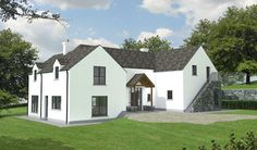 Paul McAlister Architects - The Barn Studio, Portadown, Northern Ireland… Split Level House Plans, Square House Plans, Metal House Plans, House Plans South Africa, Cottage Extension, Bungalow House Design, House Extensions, Architect Design, House 2