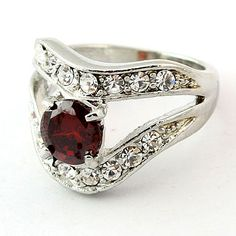 Exquisite Pave Rhinestone Vintage Style CZ Ring