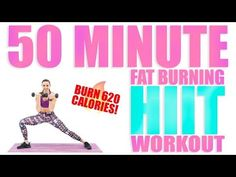 50 Minute HIIT Fat Burning Workout - YouTube