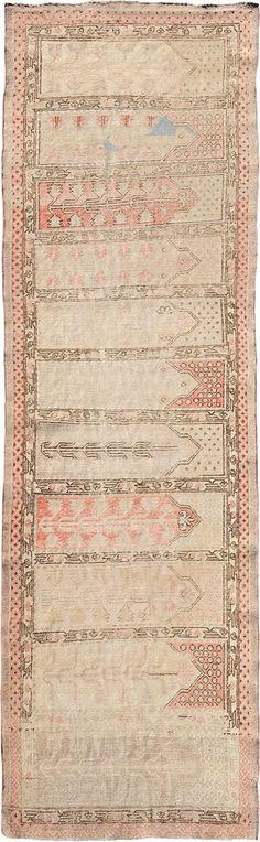 "ANTIQUE SAMARKAND Origin: EAST TURKESTAN Size: 3' 5"" x 11' 3"" Rug ID # 853"