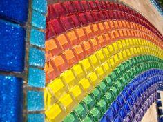 Glass & Glitter Tile Rainbow