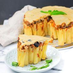 Vegan Pasta Pie   #vegan #glutenfree www.contentednesscooking.com