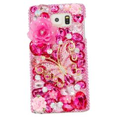 Samsung Note5 Flowers Case, Charm Of Diamonds Luxury Handmade 3D Bling Rhinestone Diamond Cover For Samsung Galaxy Note5 N9200 Unique Butterfly DIY Case Phone Back Hard Skin +Clean Cloth +Dust Plug: Amazon.ca: Electronics