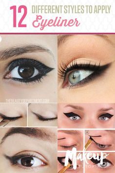 12 Different Eyeliner Tutorials You'll Be Thankful For | Makeup Tips & Tricks at http://makeuptutorials.com/12-different-eyeliner-tutorials-youll-thankful/