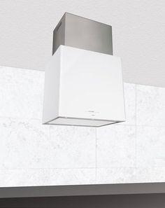 Máy hút mùi Nodor Isla Cube Glass Premium (White)