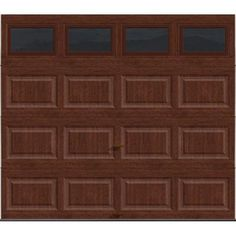 Clopay Premium Series 8 ft. x 7 ft. Intellicore Insulated Ultra-Grain Cherry Garage Door with Window Exceptional 12.9 R-Value - HDP13_CC_Plain at The Home Depot