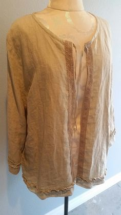 natural Linen Jacket by JUNQFUSION on Etsy