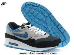 769fc5001c6 2013 New 2014 Black Grey Blue Nike Air Max 87 1 Mens Shoes New 2014 Nike