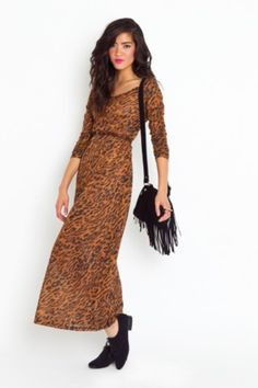 MINK PINK Into the Wild Maxi Dress