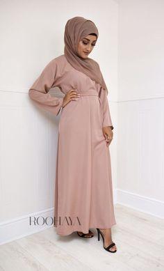 Aisha Inner Abaya jubba jilbab modest wear inner dress hijab Modest Wear, Rose Dress, Vintage Roses, Mink, Hijab Fashion, Kimono, Grey, Lace, How To Wear