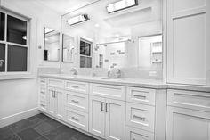 white bathroom cabinets wall