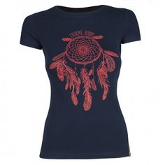 T-shirt women DREAMCATCHER. Color: dark navy. T-shirt for women with short sleeves Extreme Hobby line Basic, characterized by high quality material. Imprints are enhanced effects HD and gel. Cut t-shirt was created by us from scratch for a sense of comfort and originality.