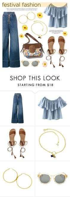 """""""Good Vibes Only: Festival Fashion"""" by donna-italiana ❤ liked on Polyvore featuring E L L E R Y, WithChic, Hollister Co., raen, contestentry, festivalfashion, donnaitaliana and donnaitalianajewelry"""