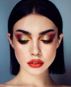 New Makeup Trends, Makeup Inspo, Makeup Inspiration, Makeup Tips, Goth Makeup, Makeup Art, Beauty Makeup, Face Makeup, Metallic Eye Makeup