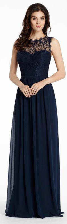 Navy Blue #Lace #elegant #bridesmaid dresses