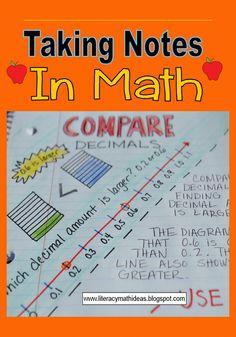 Literacy & Math Ideas: Comparing Decimals by Pat KRemer Math Teacher, Math Classroom, Teaching Math, Teaching Tools, Comparing Decimals, Math Fractions, Maths, Fifth Grade Math, Fourth Grade