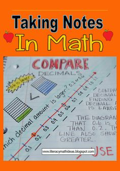 Literacy & Math Ideas: Comparing Decimals