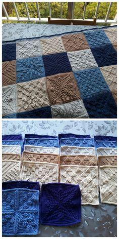 Crochet granny square blanket chunky 53 Ideas for 2019 Crochet Afghans, Crochet Sampler Afghan Pattern, Crochet Square Blanket, Crochet Squares Afghan, Granny Square Crochet Pattern, Crochet Blocks, Crochet Blanket Patterns, Crochet Granny, Knitting Patterns Free